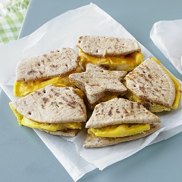 Egg, Sausage & Cheese Breakfast Puzzle Sandwich » Ohio Eggs