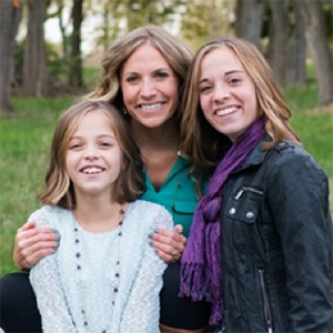 Julie Clark and her daughters