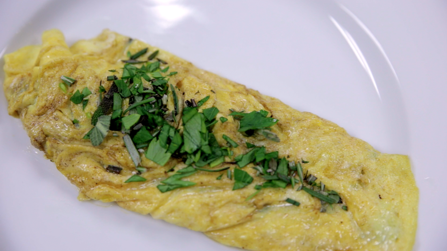 Brown Butter Asiago And Herb Omelet 187 Ohio Eggs