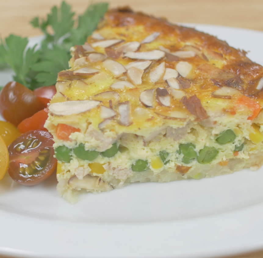 Turkey Vegetable Hash Brown Quiche Ohio Eggs